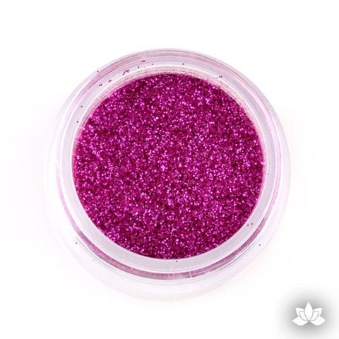 Glamorous Pink Disco Dust Pixie Dust. Disco Dust is a Non-toxic fine glitter for cake decorating that will add a touch of color to your fondant cakes & cupcakes