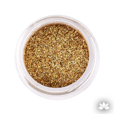 Hologram Gold Disco Dust Pixie Dust. Disco Dust is a Non-toxic fine glitter for cake decorating that will add a touch of color to your fondant cakes & cupcakes.