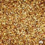 Hologram Gold Disco Dust Pixie Dust. Disco Dust is a Non-toxic fine glitter for cake decorating that will add a touch of color to your fondant cakes & cupcakes.  Caljava Wholesale cake supply. FondX