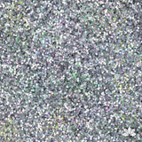 Hologram Silver Disco Dust Pixie Dust. Disco Dust is a Non-toxic fine glitter for cake decorating that will add a touch of color to your fondant cakes & cupcakes.  Caljava Wholesale cake supply. FondX