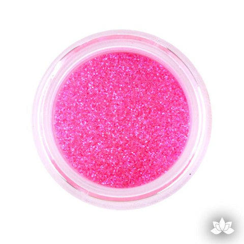 Hot Pink Disco Dust Pixie Dust. Disco Dust is a Non-toxic fine glitter for cake decorating that will add a touch of color to your fondant cakes & cupcakes.