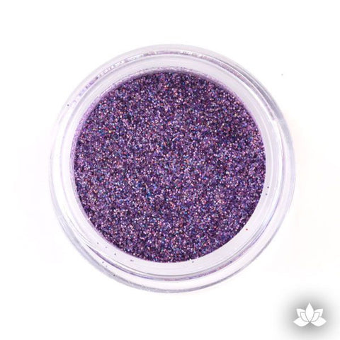 Lavender Hologram Disco Dust Pixie Dust. Disco Dust is a Non-toxic fine glitter for cake decorating that will add a touch of color to your fondant cakes & cupcakes.