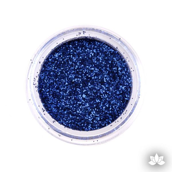 Navy Blue Dust Pixie Dust. Disco Dust is a Non-toxic fine glitter for cake decorating that will add a touch of color to your fondant cakes & cupcakes.