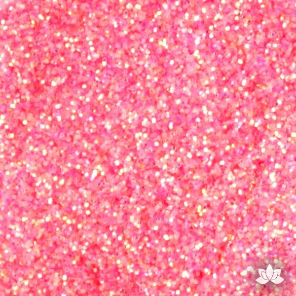 Peach Disco Dust Pixie Dust. Disco Dust is a Non-toxic fine glitter for cake decorating that will add a touch of color to your fondant cakes & cupcakes.  Caljava Wholesale cake supply. FondX