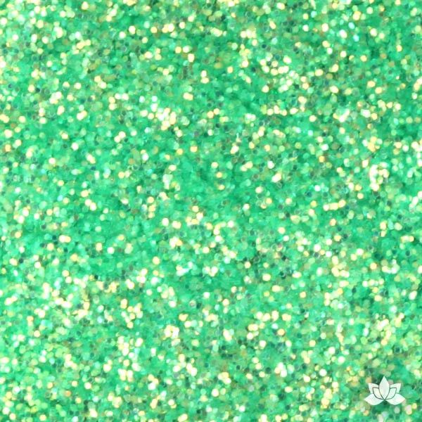 Sea Green Disco Dust Pixie Dust. Disco Dust is a Non-toxic fine glitter for cake decorating that will add a touch of color to your fondant cakes & cupcakes.  Caljava Wholesale cake supply. FondX
