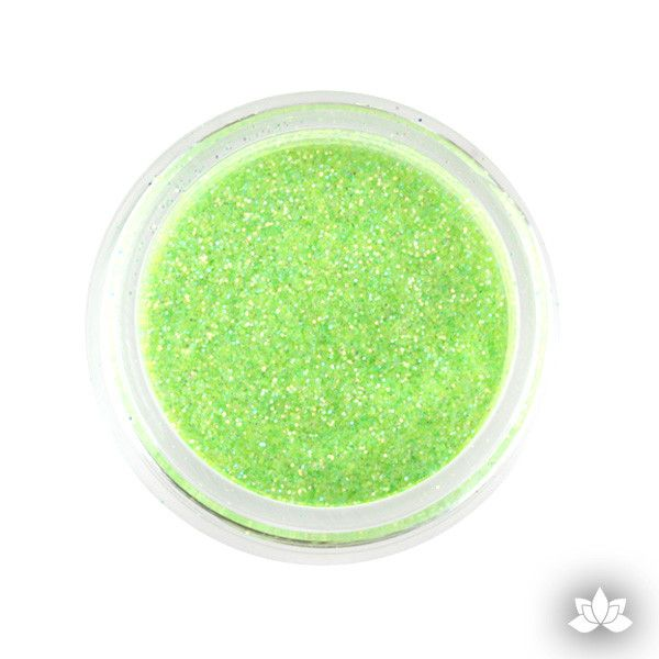 Sour Apple Disco Dust Pixie Dust. Disco Dust is a Non-toxic fine glitter for cake decorating that will add a touch of color to your fondant cakes & cupcakes.