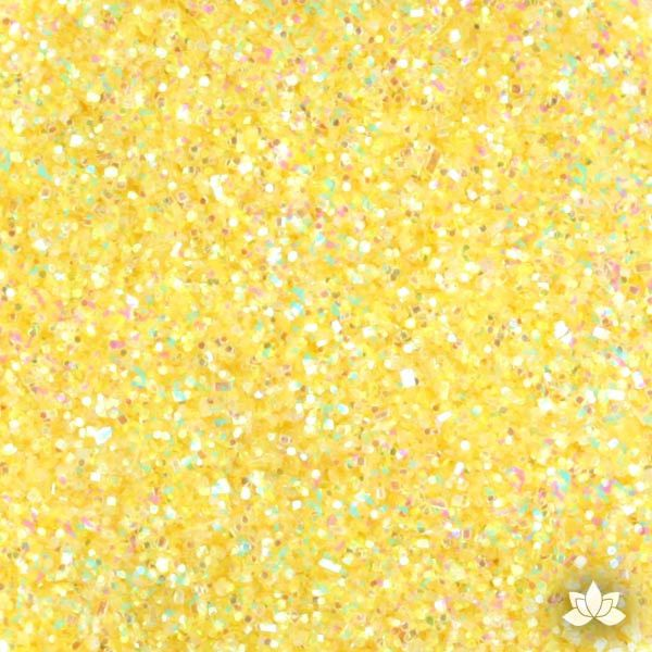 Yellow Rainbow Disco Dust Pixie Dust. Disco Dust is a Non-toxic fine glitter for cake decorating that will add a touch of color to your fondant cakes & cupcakes.  Caljava Wholesale cake supply. FondX