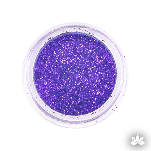 Violet Disco Dust Pixie Dust. Disco Dust is a Non-toxic fine glitter for cake decorating that will add a touch of color to your fondant cakes & cupcakes.  Caljava Wholesale cake supply. FondX