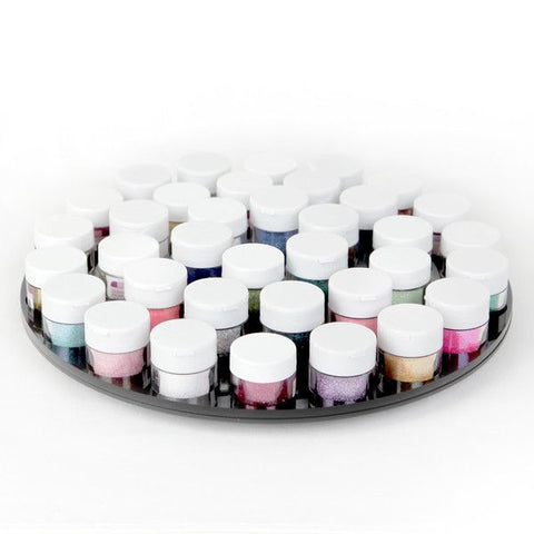 Disco Dust Organizer Flat Turn Table. Organizes all of your Disco Dust Colors (Sparkle Glitter). | CaljavaOnline.com