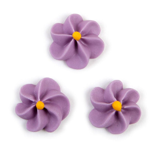 Large Royal Icing Drop Flowers - Lavender