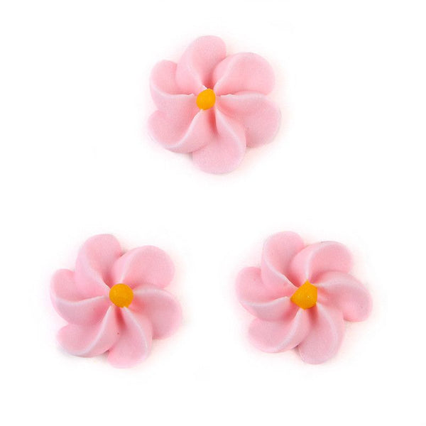Large Royal Icing Drop Flowers - Light Pink