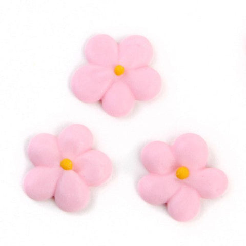 Mini Flower Power Royal Icing Decorations - Pink