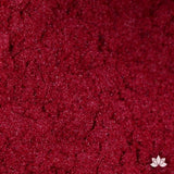 Cranberry Luster Dust colors for cake decorating fondant cakes, gumpaste sugarflowers, cake toppers, & other cake decorations. Wholesale cake supply. Bakery Supply. Dazzling Red Lustre Dust Color.