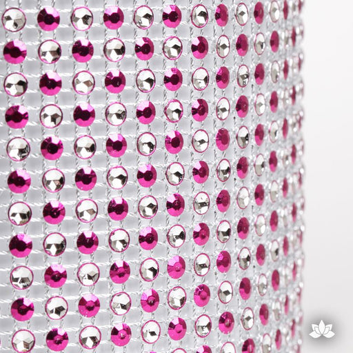 Add bling to your cake with Glam Ribbon Diamond Cake Wraps. Perfect for cake decorating rolled fondant cakes & wedding cakes. Cake decoration. Diamond Mesh. Hot Pink Polka Dot Glam Ribbon Cake Wrap - 1 yard