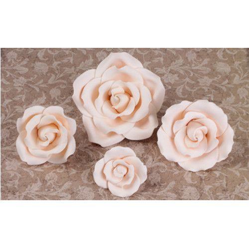 Mixed Size Garden Roses - Ivory