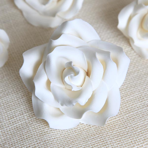 Garden Roses gum paste sugar flower cake topper great for cake decorating your own cakes and wedding cakes.