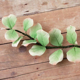 Eucalyptus leaf sugarflower from gumpaste perfect for cake decorating fondant cakes and wedding cakes. Wholesale sugarflowers and cake supply.