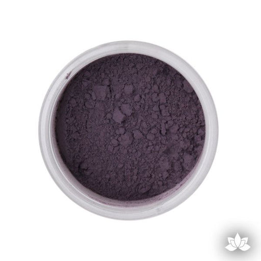 Eggplant Petal Dust color food coloring perfect for cake decorating & coloring gumpaste sugar flowers. Caljava