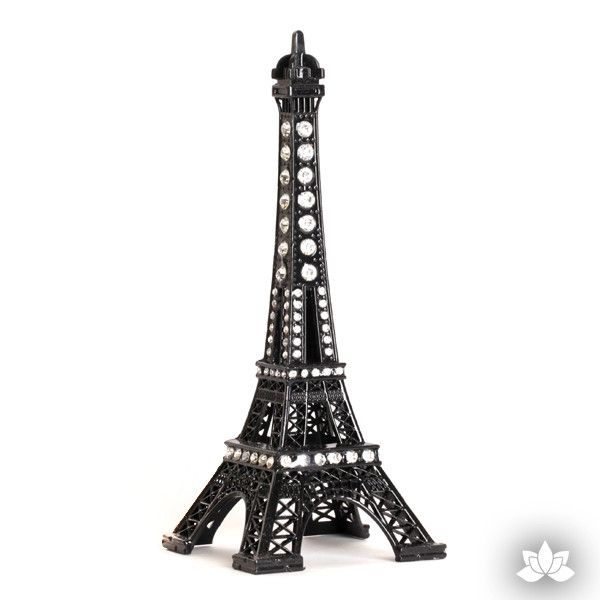 Black Eiffel Tower Cake Topper paris themed cake decoration.