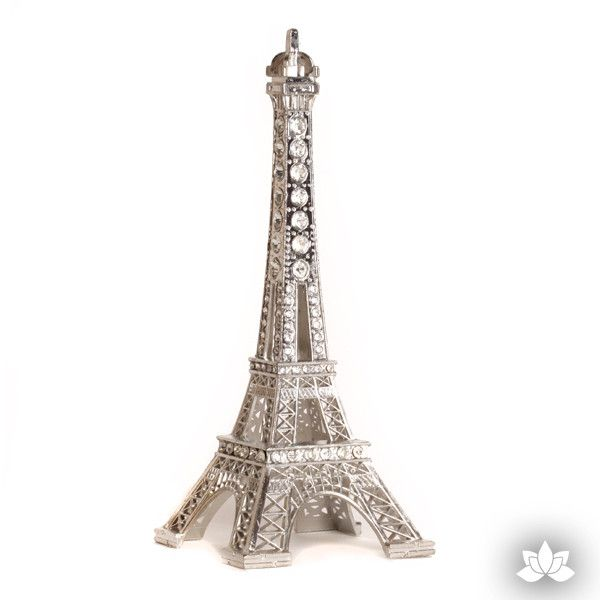 Silver Eiffel Tower Cake Topper perfect for Paris themed cakes