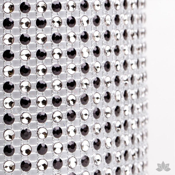 Add bling to your cake with Glam Ribbon Diamond Cake Wraps. Perfect for cake decorating rolled fondant cakes & wedding cakes. Cake decoration. Diamond Mesh. Black Polka Dot Glam Ribbon - Cake Wrap