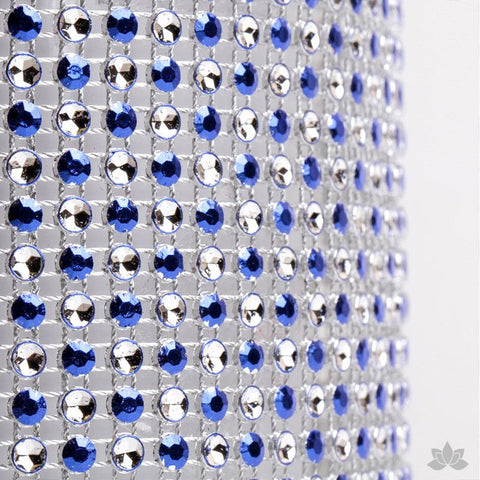 Add bling to your cake with Glam Ribbon Diamond Cake Wraps. Perfect for cake decorating rolled fondant cakes & wedding cakes. Cake decoration. Diamond Mesh. Blue Polka Dot Glam Ribbon - Cake Wrap