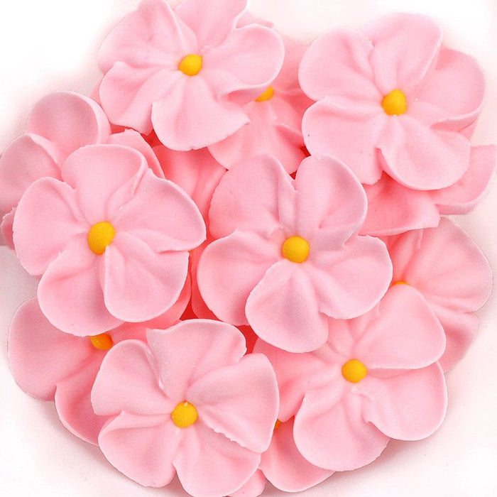 Forget Me Not Royal Icing Decorations - Pink