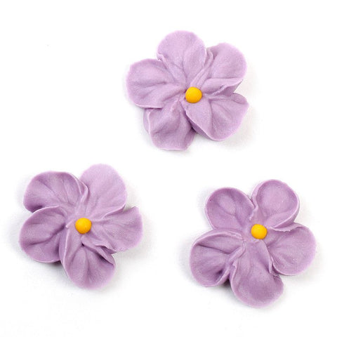 Forget Me Not Royal Icing Decorations - Violet