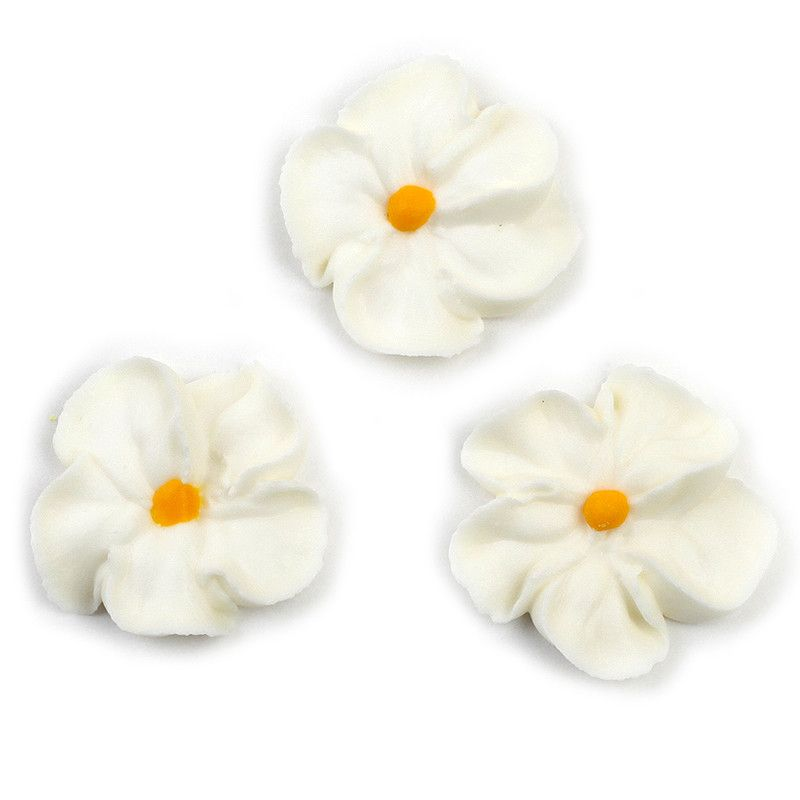 Forget Me Not Royal Icing Decorations - White