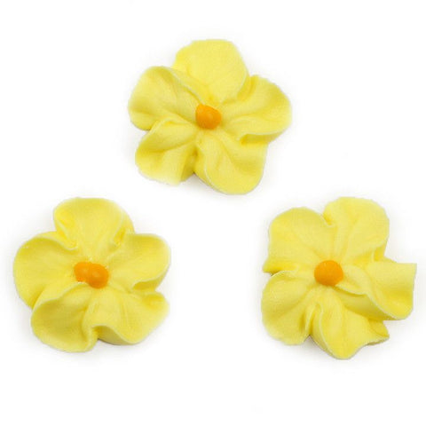 Forget Me Not Royal Icing Decorations - Yellow