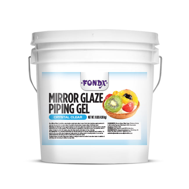 FondX Mirror Glaze Piping Gel - Clear