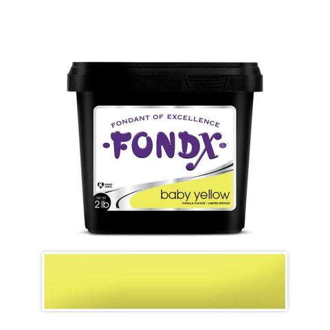 FondX Rolled Fondant 2lb - Baby Yellow