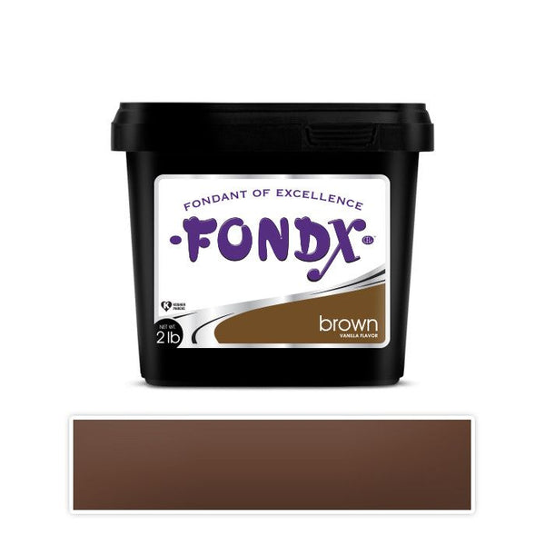 FondX Rolled Fondant 2lb - Brown