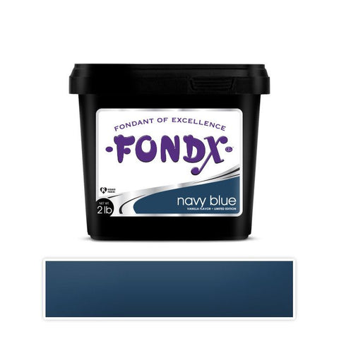 FondX Rolled Fondant 2lb - Navy Blue