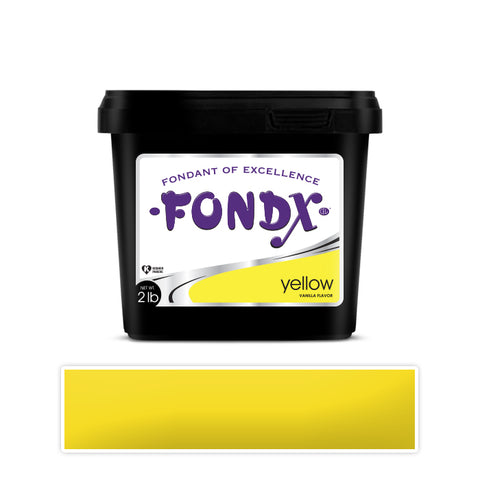 FondX Rolled Fondant 2lb - Yellow