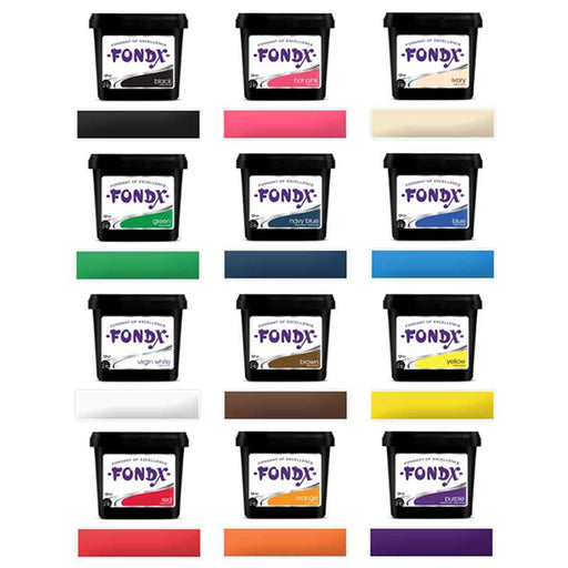 12 Pack of FondX Rolled Fondants - Starter Set