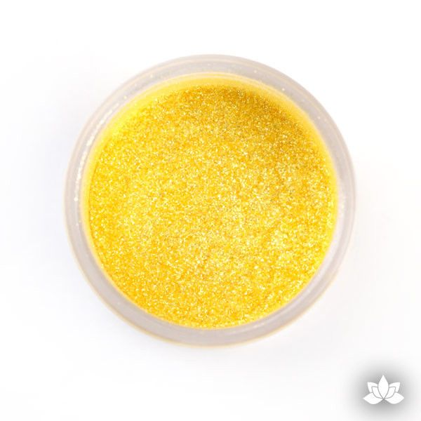 Yellow Luster Dust Colors food coloring perfect for cake decorating fondant cakes, cupcakes, cake pops, wedding cakes, and sugarflowers. Dusting color. Cake supply.