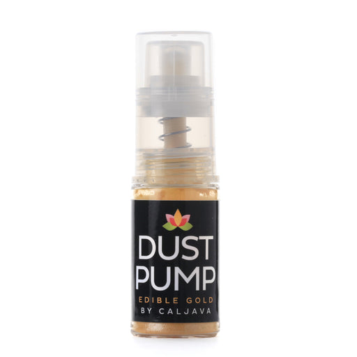 Edible Gold Dust in an easy-to-use Dust Pump Bottle for cake decorating or topping for food.