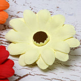 Colored Gumpaste Daisy cake decorations perfect for cake decorating rolled fondant wedding cakes and rolled fondant birthday cakes and cupcakes.  Wholesale sugarflowers & cake decorating products. Caljava