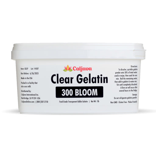 Clear Gelatin 300 Bloom great for thickening your soups and sauces. Also this no jiggle gelatin is great for gelatin art and mold making. Gelatina