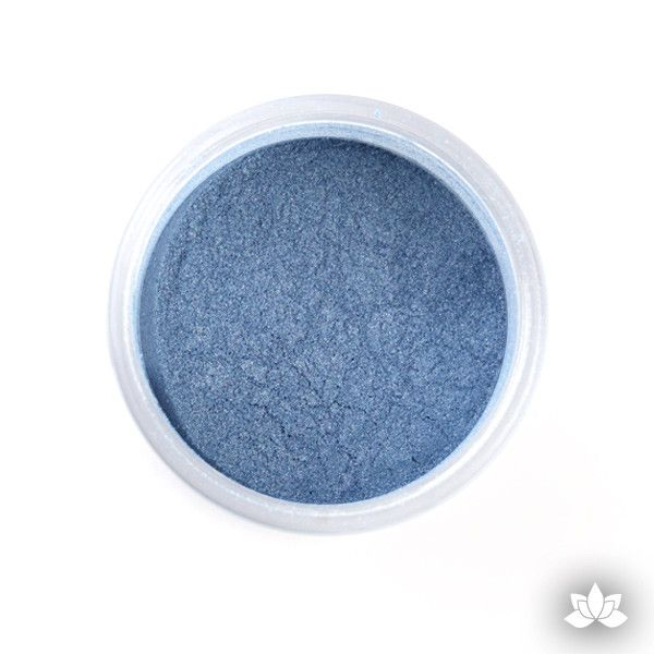 Gentian Blue Luster Dust colors for cake decorating fondant cakes, gumpaste sugarflowers, cake toppers, & other cake decorations. Wholesale cake supply. Bakery Supply.  Blue Lustre Dust Color.
