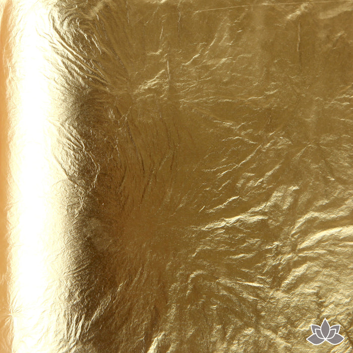 Edible Gold Leaf Transfer Sheets (23k) great for decorating your cakes & chocolates. Metallic Gold Leaf