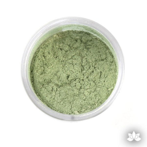 Green Luster Dust Colors food coloring perfect for cake decorating fondant cakes, cupcakes, cake pops, wedding cakes, and sugarflowers. Dusting color. Cake supply.