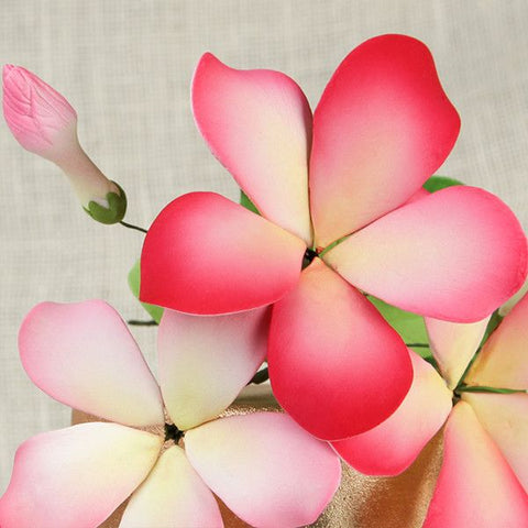 Hawaiian Bloomed Plumeria Cake Toppers, Pink Sugarflowers. Cake decorations for making your own cake. | CaljavaOnline.com
