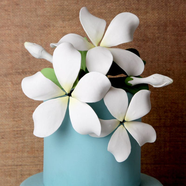 Hawaiian Bloomed Plumeria Toppers -White