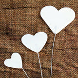 Fondant Heart Bursts Applique perfect for cake decorating birthday cakes & valentines cakes. Simply color the hearts and apply them on the cake.  Wholesale cake supply. Sugarflower.
