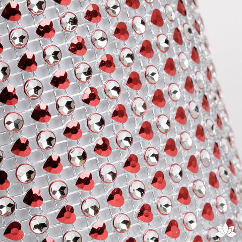 Add bling to your cake with Glam Ribbon Diamond Cake Wraps. Perfect for cake decorating rolled fondant cakes & wedding cakes. Cake decoration. Diamond Mesh. Red Heart Glam Ribbon - Cake Wrap