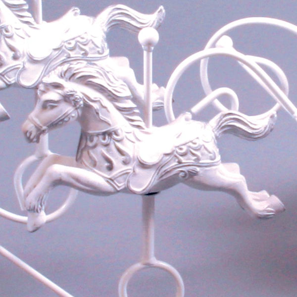 White Silver Replacement Ceramic Horse