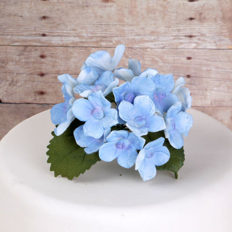 10 Bunches of Hydrangeas and Leaves - Blue
