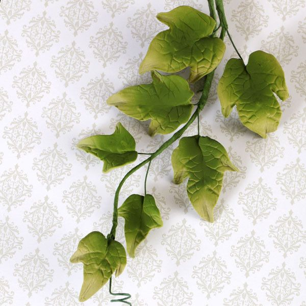Green Ivy Leaf Filler sugarflower from gumpaste perfect for cake decorating fondant cakes and wedding cakes. Wholesale sugarflowers and cake supply.